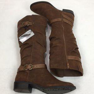Sonoma Knee High Cognac Brown Boots SZ 9.5 New